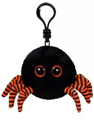 "3.2"" TY Halloweenie Beanie Boo Key Clip New Spidey Plush Keychain"