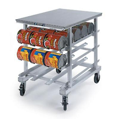 Lakeside 336 Mobile Can Rack w/ 54 - #10 Can Cap. & Poly Worktop