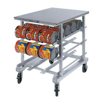 Lakeside 346 Mobile Can Rack w/ 54 - #10 Can Cap. & S/S Worktop
