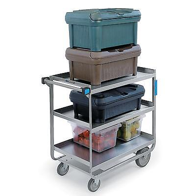 "Lakeside 744 22.4""W x 38.6""L S/S 3-Shelf Utility Cart w/ 700 lb Capacity"