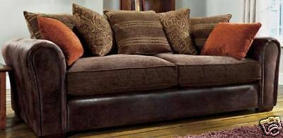 "Barcelona 3&2 Seater Sofas"" Brown""brand New""top Quality Also Available In Black"