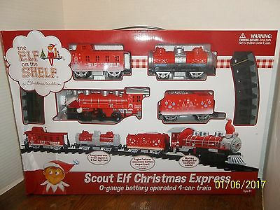 The Elf On The Shelf Scout Elf Christmas Express O-Gauge Battery Train New