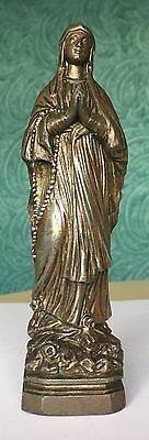 Antique French 1900's Spelter Statue  Of Mary - Our Lady Of Lourdes