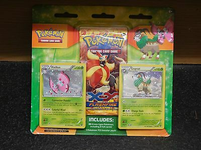 BRAND NEW Pokemon XY Flashfire Grass Pokemon And 1 Booster Pack FREE POSTAGE