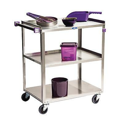 """Lakeside 322A 18-3/8""""x30-3/4""""x33"""" 3-Tier Stainless Steel Utility Cart"""