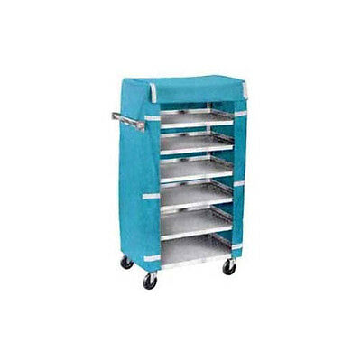 """Lakeside 437 18-3/8""""Wx30-3/4""""Lx46""""H Stainless Steel Tray Delivery Cart"""