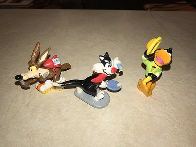 "Applause Looney Toons 1988 1990Figures Lot Of 3 2.5"" Tall"