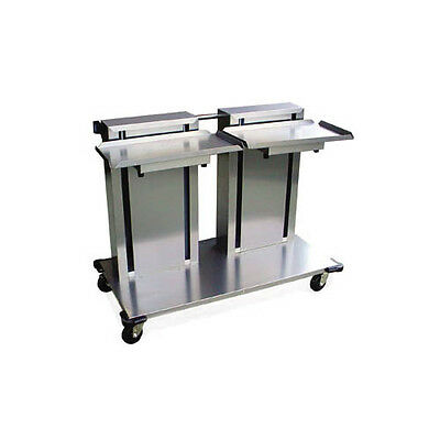 Lakeside Stainless Steel Mobile Tray & Glass/cup Rack Dispenser - 2818