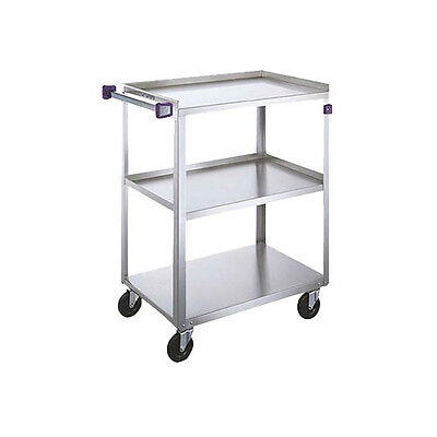 "Lakeside 22-3/8""x39-1/4""x37-1/4"" 3-Tier Stainless Steel Utility Cart - 444A"