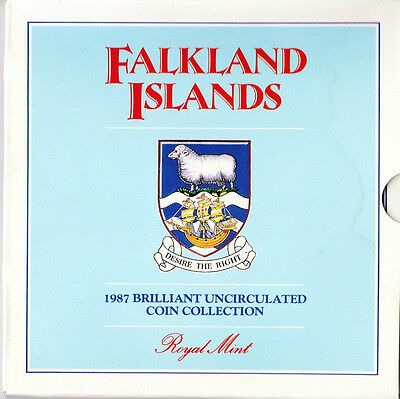 1987 Falkland Islands Brilliant Uncirculated Coin Collection