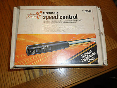 Vintage Sears Electronic Speed Control Cruise AutoCruise Control # 28 20543