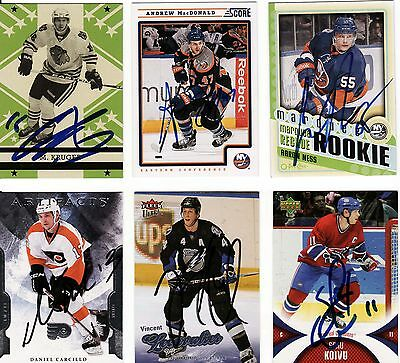 Marcus Kruger, Chicago Blackhawks, Rare Auto'd/signed Nhl Card.