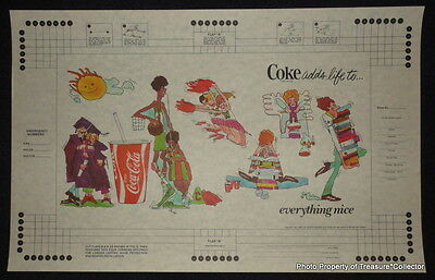 Lot of 10 vintage original 1970s Coca Cola book covers Coke Adds Life basketball