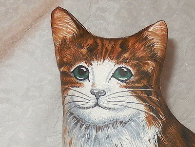 Cat Pillow NEW Brown Life Like Body Shape Shelf Sitter Primative Vintage Style