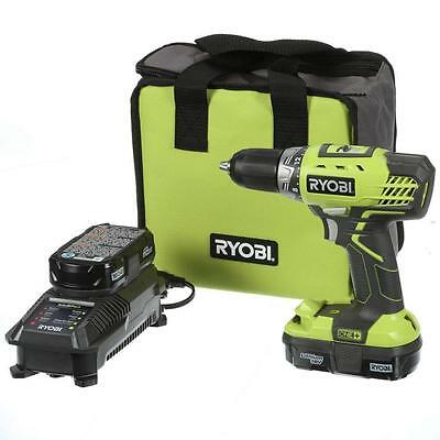 New! Ryobi 18v Cordless Drill Kit, Charger, 2 batteries, W/Tool Carry Bag P1811