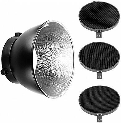 Neewer 7inch/ 18cm Standard Reflector Diffuser With 10/30/50 Degree Honeycomb