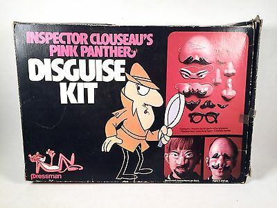 VERY RARE VIntage PINK PANTHER INSPECTOR CLOUSEAU DISGUISE KIT, PRESSMAN