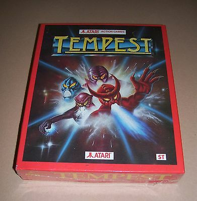 NEW Atari 520 1040 ST Mega ST computer 1989 game Tempest BOXED SEALED DS 5136