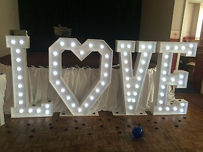 Giant LOVE letters - DIY Lights - Mains Powered Light Sets For Our DIY KITS