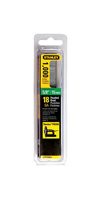 "Stanley 5/8"" 15mm 18GA Brad Nails, 1,000 Pack"