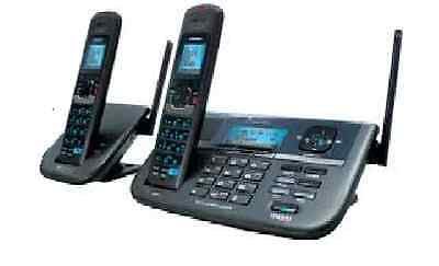 Uniden XDECT R055+1 2-Line Triple Cordless Phone with Repeater+Answering Machine