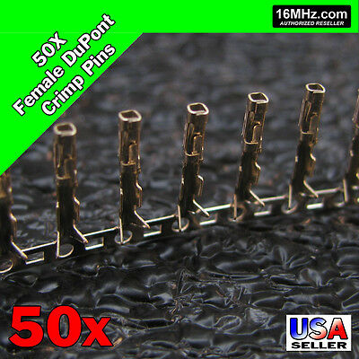 50x Dupont Jumper Wire Female Crimp Pin Header Connectors US Seller 50pcs Q01