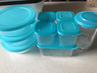 Tupperware Clear mates Set Fridge Storage Stackable Set As New Condition Light B