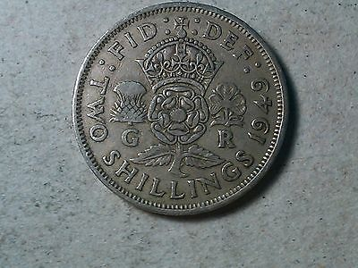 Great Britain Two Shillings Florin 1949 George VI