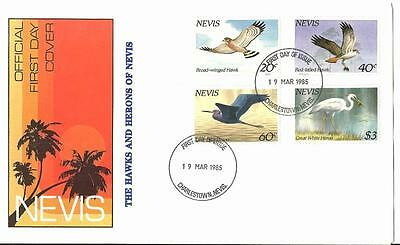 Nevis Hawks and Herons. First Day Cover #403-406
