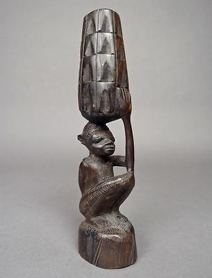 10.5 inch MAKONDE EBONY Wood FIGURE Sculpture Carving African Africa TANZANIA 1