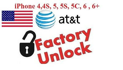 AT&T USA iPhone4 4S 5 5S 5C,6,6+ fast official Unlocking service CLEAN IMEI ONLY