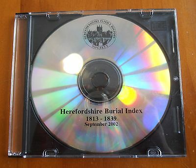 Herefordshire Burial Index 1813-1839 History CD
