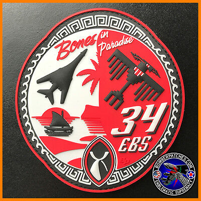 34th Expeditionary Bomb Squadron 2016 Deployment PVC Patch, B-1 Lancer, USAF