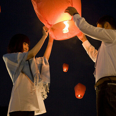 New 10pcs Chinese Lanterns Fire Sky Fly Candle Lamp Party Wish Lamp Sky Lanterns