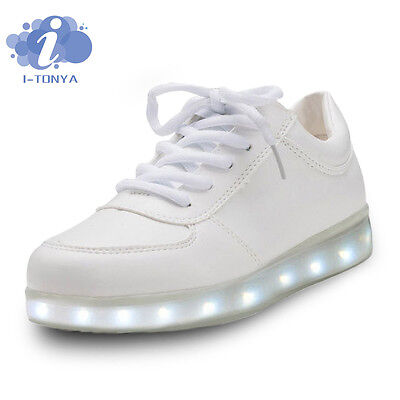 LED Night Light Couples Men Women Lovers Light Up Trainer Lace Up Shoes New