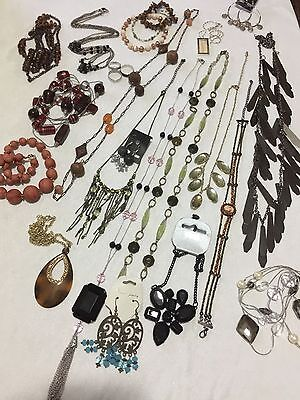 Bulk Jewellery Collection Glass Beads Long Necklaces Crystal Earrings.  V10