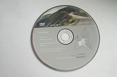 AUDI NAVIGATION RNS-E SAT NAV MAP 2016 New DVD Germany France  Italy Holland Bel