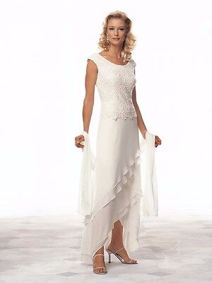 2017 New Mother of the Bride Dresses/Suits Chiffon Lace Ankle Length Plus Size