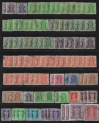 INDIA - mixed collection, bulk lot No.6, Service, Official stamps, x 100 +