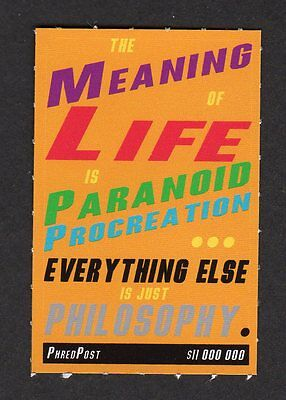 PhredPost artistamp The Meaning of Life 2004 Australia