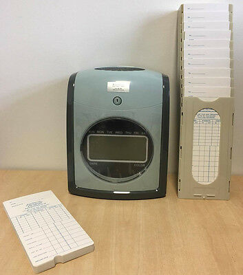 Time Recorder Clocking in Clock Machine WEEKLY Model + FREE Pack of Cards & Rack