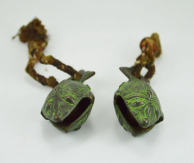 Handmade 2 pieces Brass Cow Ghungroo / horse ghungroo with small rope for animal