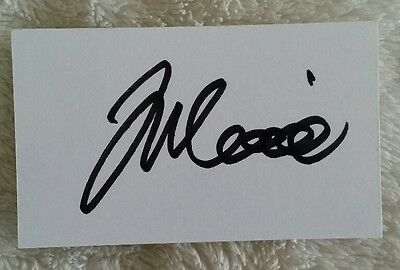 Joe Mennie Signed In Person Neat Index Card Cricket Ashes