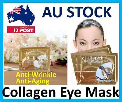 10 Pairs Anti-Wrinkle Dark Circle, Collagen Under Eye Patches Pad Mask Bag Gel