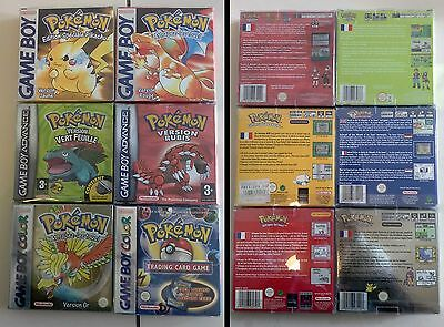 Rare Lot jeux POKEMON Version Rouge Or Rubis Vert Feuille Game Boy complet