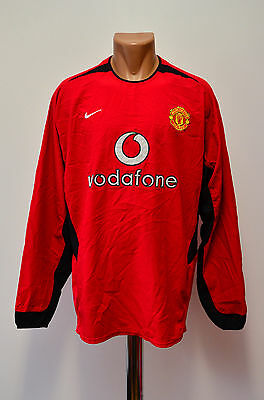 Manchester United 2002/2003/2004 Home Football Shirt Jersey Nike Long Sleeve
