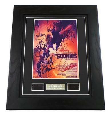 GOONIES Signed PREPRINT + GOONIES FILM CELL MOVIE MEMORABILIA FRAMED GIFTS