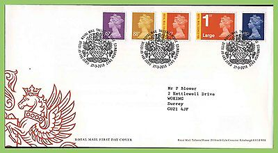 G.B. 2013 (March) definitives set on Royal Mail First Day Cover, Tallents House