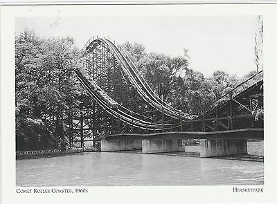 "*Postcard-""Comet Roller Coaster"" -1960's- @ Hershey Park, PA.  (A4-8)"