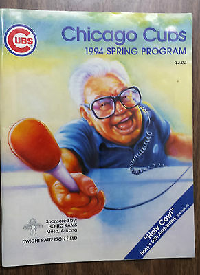 Chicago Cubs 1994 Spring Program - Harry Caray 50th Anniversary Announcing MLB